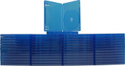 (50) Blue Playstation 4 Game Cases - 1 Disc Capacity - 14mm - #VGBR14PS4BL
