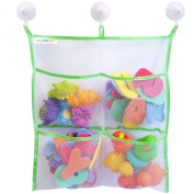 Bath Toy Organiser - Extra Strong - The Only Storage Bag With 3 Suction Cups
