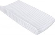 Miracle Blanket MiracleWare Muslin Changing Pad Cover, Blue and Grey Stripes