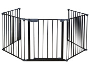 TMS® Baby Safety Fence Hearth Gate BBQ Metal Fire Gate Fireplace Pet Dog Cat Fence