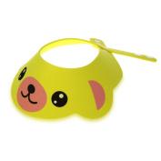 TOOGOO(R) Baby Kid Toddler Bath Shower Cap Hat Wash Hair Shampoo Shield Adjustable Yellow