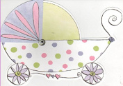 Baby Carriage Baby Shower or Birth Announcement