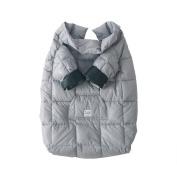 7 A.M. ENFANT Easy Cover Bunting Bag, Grey, Large