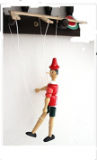 Marionette Puppet Pinocchio Wooden Doll Original Kids Marionettes Puppets Wood From Italy 18cm