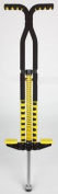 Foam Safety Pogo Stick in Black & Yellow. Includes Digital Pogo Counter
