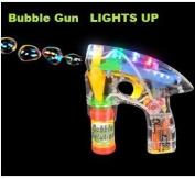 Rhode Island Novelty Transparent Light-Up Bubble Blaster Gun, 18cm