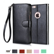iPhone 6S Case, iPhone 6 Case, Fyy [Top-Notch Series] Premium PU Leather Wallet Case Protective Cover for iPhone 6S / iPhone 6 (12cm ) Black