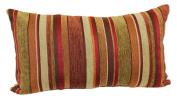 Brentwood Originals 2073 Carnival Stripe Toss Pillow, 36cm by 60cm , Shiraz