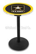 L214 - 110cm Black Wrinkle U.S. Army Pub Table by Holland Bar Stool Co.
