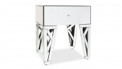 Azure Mirrored Glass End Table