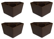 Brown Triangle Plastic Sofa Legs - Set of 4