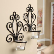 Scroll Wall Sconce Candleholders