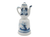 Collectible Thimble Blue and White Teapot