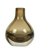 Casamotion Hand Blown Art Glass Bud Vase, Gift Boxed, Brown