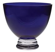 Majestic Gifts Handmade Cobalt Lead Free Crystal Footed Bowl, Medium, Cobalt