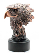 Patinated Copper Bronze Eagle Bust Statue