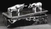Sale- Silver Bull & Bear Marble Box