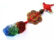 Feng Shui Pi Xiu (Pi Yao ) with Coins Hanging or Charm for Wealth Luck