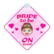 Bride To Be On Board Car Sign New Baby / Child Gift / Present / Baby Shower Surprise