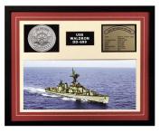 Navy Emporium USS Waldron DD 699 Framed Navy Ship Display Burgundy