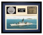 Navy Emporium USS Thomas C Hart FF 1092 Framed Navy Ship Display Blue