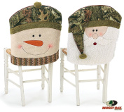 Mossy Oak Santa and Snowman Camouflage Christmas Chair Back Covers Great Holiday Decor