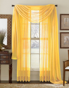 Yellow 550cm Sheer Window Scarf
