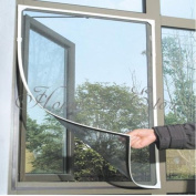 Insect Fly Bug Mosquito Door Window Net Netting Mesh Screen Sticky hook and loop Tape