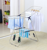 EWEI'S HomeWares 150cm L x 60cm W Heavy Duty Gullwing Drying Rack, Adjustable & Rust-proof Stainless Steel Clothes Drying Rack, Premium Quality