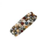 Pearl Multi-Colour & Sterling Silver Stretch Bracelet