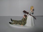 Military Camo Redneck Wedding reception party Hunter Hunting Cake Topper