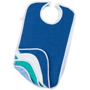 Terry Cloth Adult Reusable Bibs with . Closure Pack of 4 Canadian Made (17