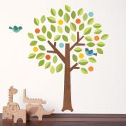 Petit Collage Wall Decal, Polka Dot Tree