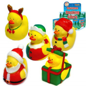 6 X Christmas Rubber Bath Ducks