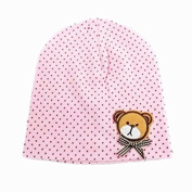 BuyHere Unisex Baby Bear Labelling Hats,Pink