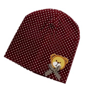 BuyHere Unisex Baby Bear Labelling Hats,Coffee