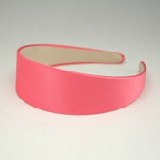 """Annielov 40mm (1 1/2"""") Plastic headband covered with Satin Silk fabric Wide Headbands Hair accessories Alice band - Coral"""