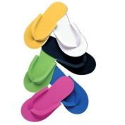 Pedi slippers pack of 12 pairs assorted colours