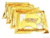 Palestren Collagen Eye Masks - 10 x Pairs of Crystal GOLD Anti-Wrinkle Anti-Ageing Under Eye Gel Patch powder Mask Facial Moisturiser