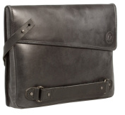 Uberbag Insignia Men's Black / Graphite Grey Leather Clutch Bag