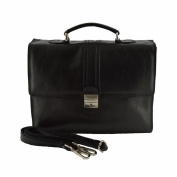 Leather Business Bag Black - Genuine Leather Bags Made In Italy - Man Bag