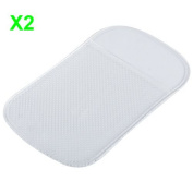 Heemepink 2x Non Slip In Car Holder Sticky Pad Gadget Mat For Mobile Phone iPhone Blackberry Samsung Keys Coins - Clear