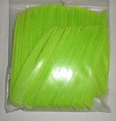 AMG Arrow Feathers 13cm RWSC Shield Cut Lime Pkg/100