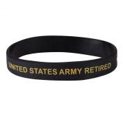 Army Silicone Wristband - Black