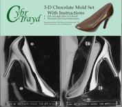 Cybrtrayd D055AB High Heel Shoe Chocolate Candy Mould Bundle with 2 Moulds and Exclusive Cybrtrayd Copyrighted 3D Chocolate Moulding Instructions