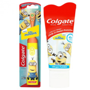 Colgate® Minions Battery Toothbrush & Toothpaste Set