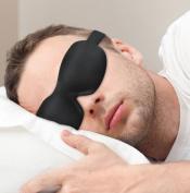 PLEMO Sleep Mask, Lightweight Ultra-Soft Silky Contoured Eye Mask, Breathe-Easy Eye Shade for Bedtime & Travel, One Size in Black