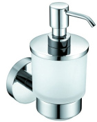 'Luxury Designer Frosted Glass Soap Dispenser Hotel Solid Brass Wall Bracket
