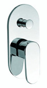 Luxury design Kalfri Flush-Mounted Bath Mixer Tap Fitting Solid Brass Chrome-Plated