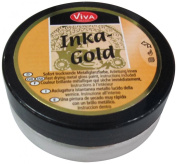 Viva Decor 62.5gm Inka Gold Metal Gloss Paint, Platinum